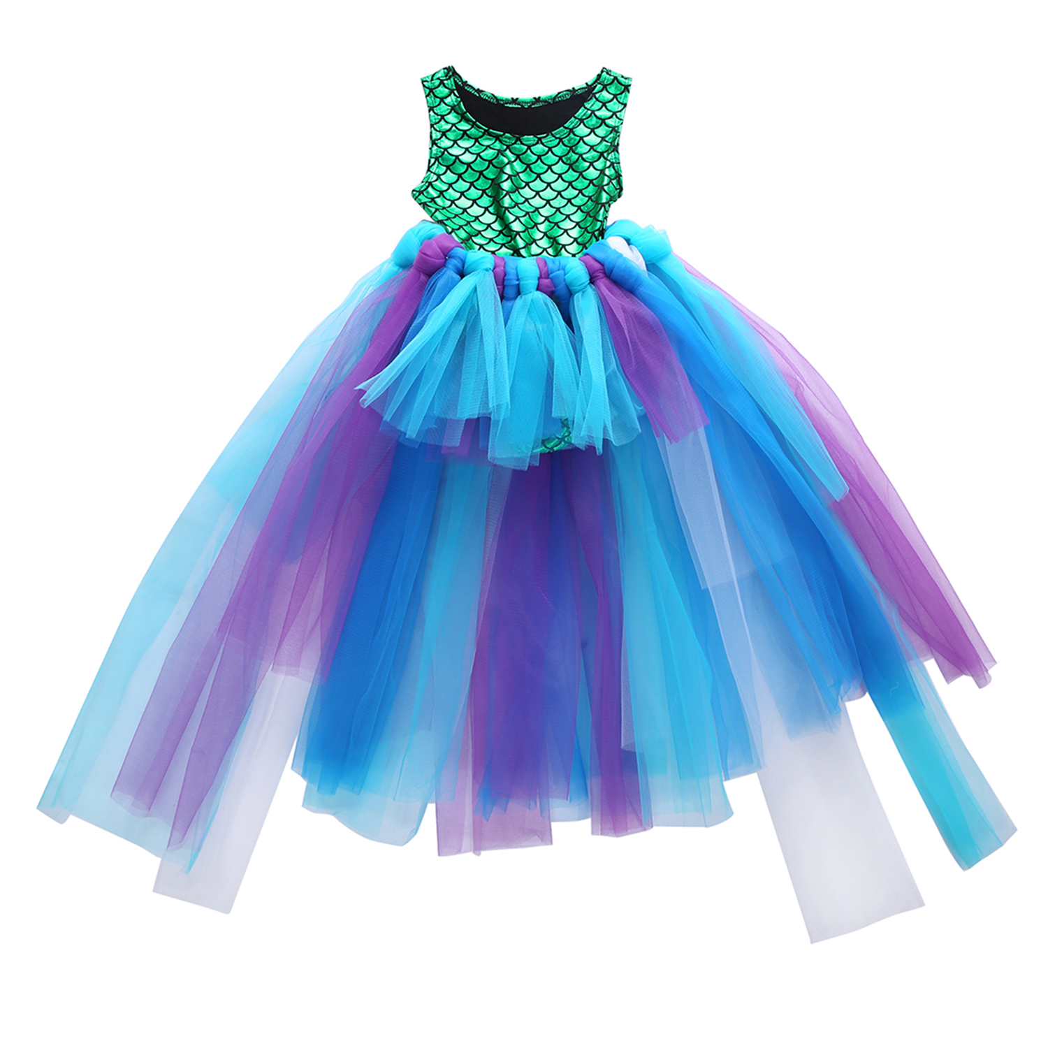 Kids Baby Girl Mermaid Tops Bodysuit+Tulle Tutu Skirts Party Dress Outfits Set