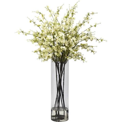 Nearly Natural Giant Cherry Blossom Arrangement, White