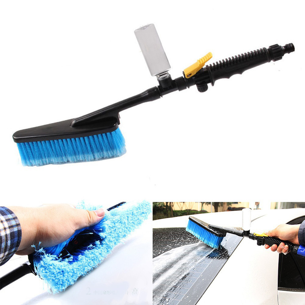 Car Wash Brush >> Car Wash Brush Hose Adapter Vehicle Truck Cleaning Water Spray