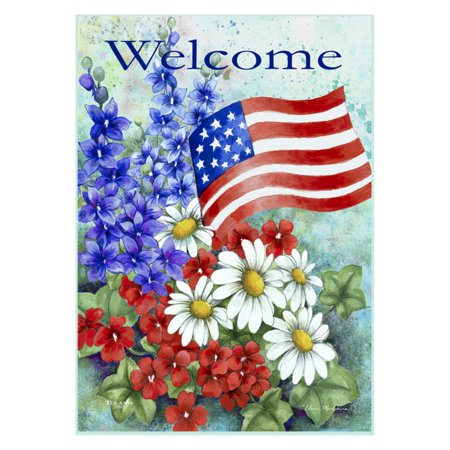 Toland Home Garden Patriotic Welcome Flag