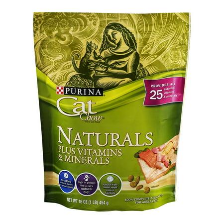 Purina Cat Chow Naturals Plus Vitamines et minéraux, 16,0 OZ