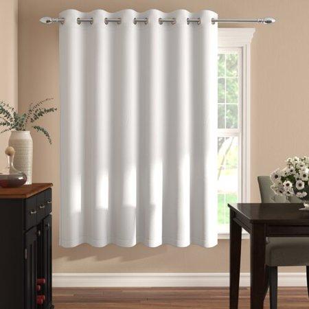 Charlton Home Nikki Solid Blackout Thermal Grommet Single Curtain Panel (Wayfarer White)