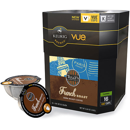 Keurig Vue Pack Tully's Coffee French Roast Coffee, 16ct