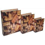 3-Pc Cork Book Box