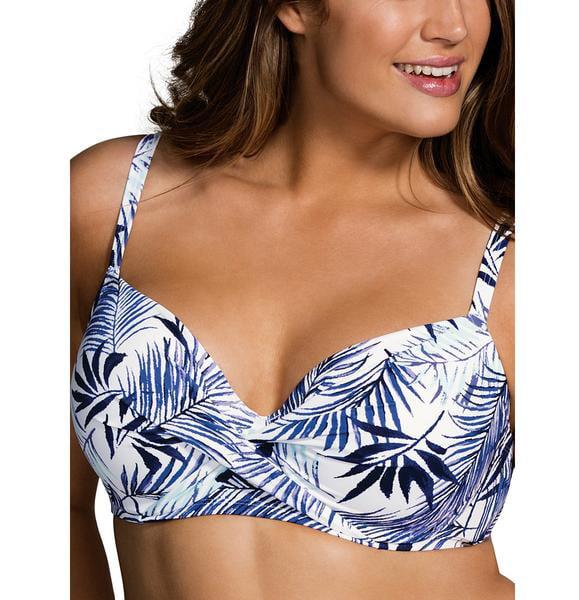 Dorina Curves - Dorina Curves Corsica Padded Underwire Bikini Top #D17044H, 40D,Aqua Leaf - Walmart.com