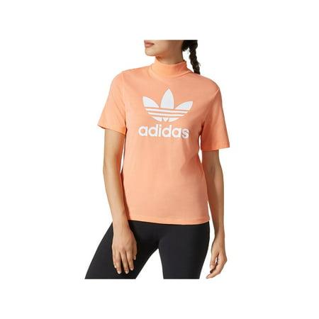 adidas originals pharrell high neck logo t-shirt - women's Adidas Originals Top