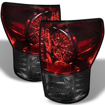- Fits 07-13 Toyota Tundra Pickup Truck Red Smoked LED Tail Brake Lights Lamp Set