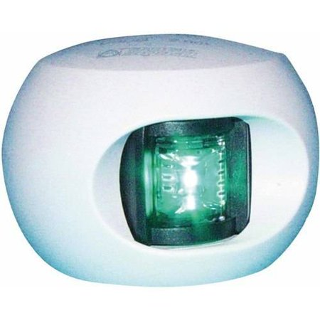 Aqua Signal Series 33 LED 12V Navigation Light for Power and Sail Up To 65', Starboard Side Mount