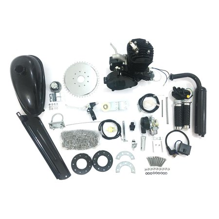 Ktaxon 50cc Gas 2 Stroke Bike Motor Kit Motorized Bicycle Engine kit Black