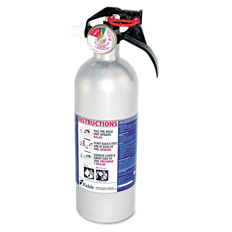 Kidde FX511 Automobile Fire Extinguisher, 5 B:C, 100psi, 14.5h x 3.25 dia, 2lb