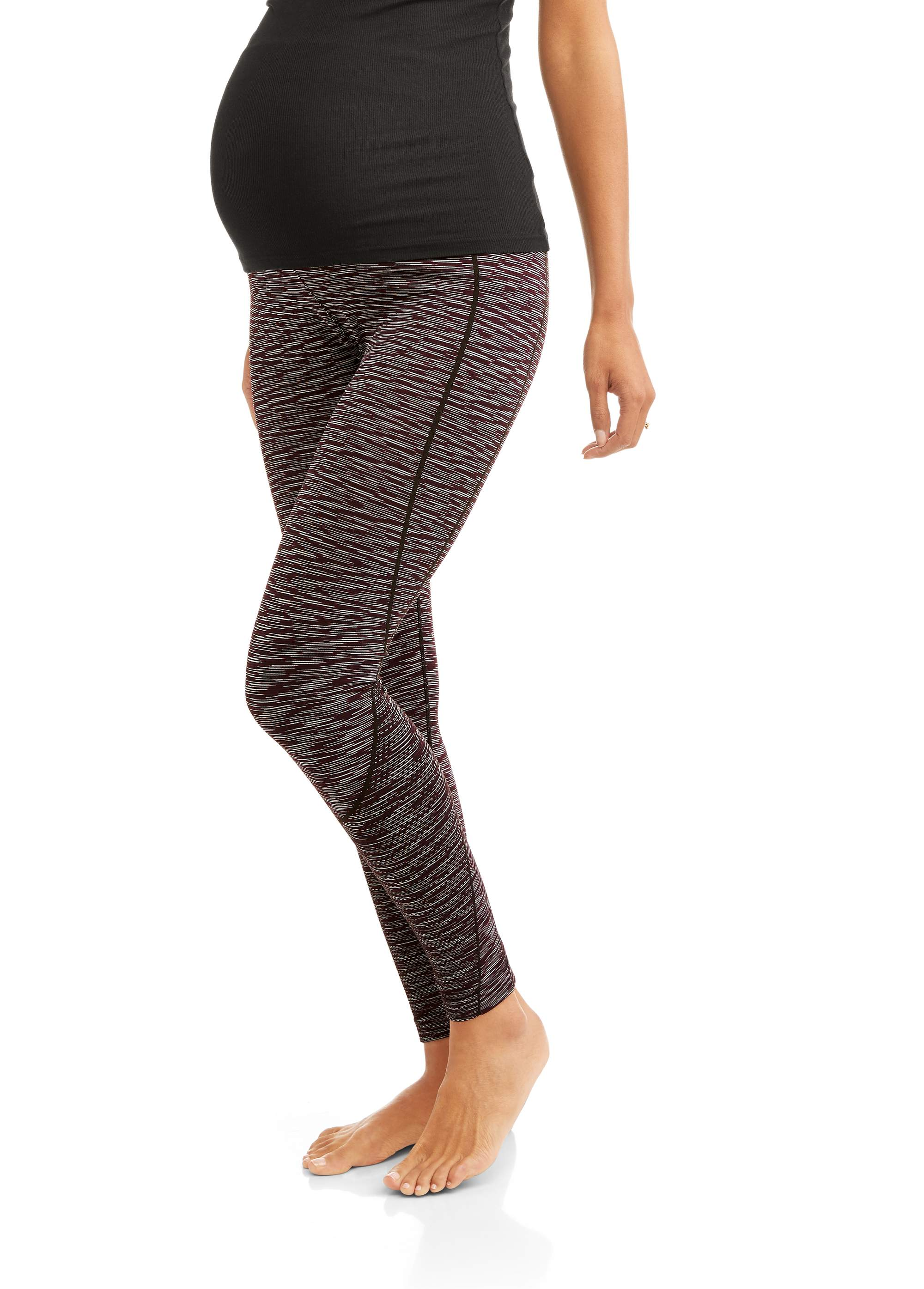 Maternity Textured Yoga Space Dyed Ankle leggings-- available in plus size
