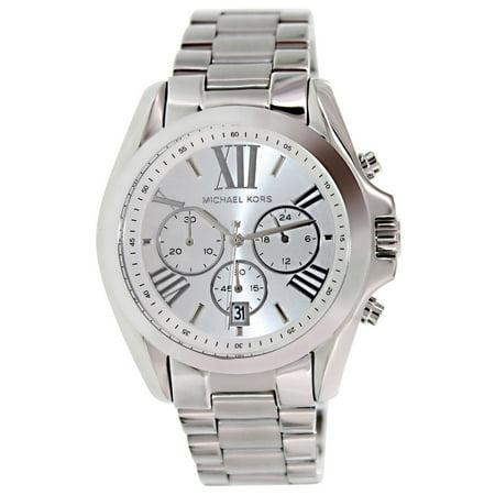 MK5535 Women's Bradshaw Silver Tone Dial Stainless Steel Bracelet Chronograph Watch (Stainless Steel Dorado Silver Dial)