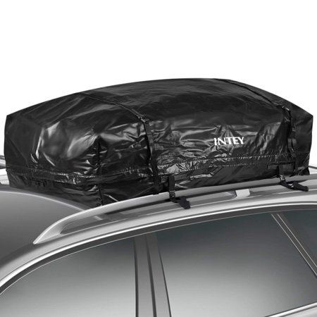 (INTEY Cargo Bag Rooftop Cargo Carrier Waterproof Car Roof Storage 15 Cubic Feet for Car. Van and SUV)