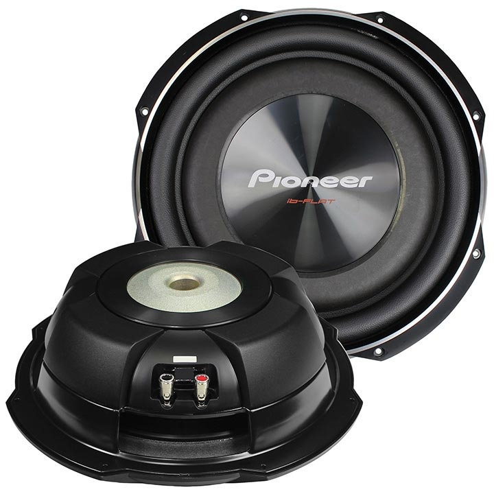 Pioneer 12 Inch Shallow Mount Woofer 1500w Max Svc 4 Ohm Black Audio Woofers
