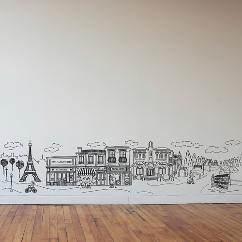 Dana Decals Doodle Paris Scene Small Wall Decal