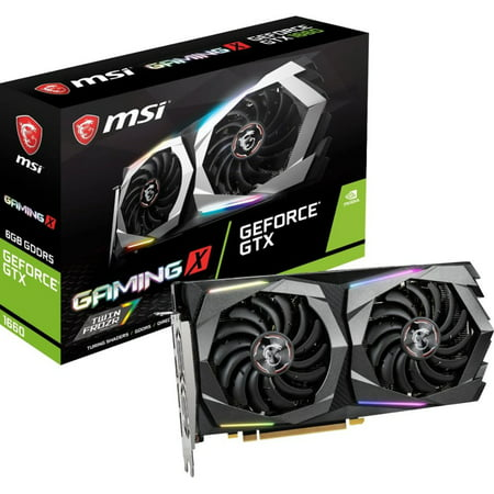 MSI Gaming GeForce GTX 1660 Ti 192-bit HDMI/DP 6GB GDRR6 HDCP Support DirectX 12 Dual Fan VR Ready OC Graphics Card (GTX 1660 TI Gaming X