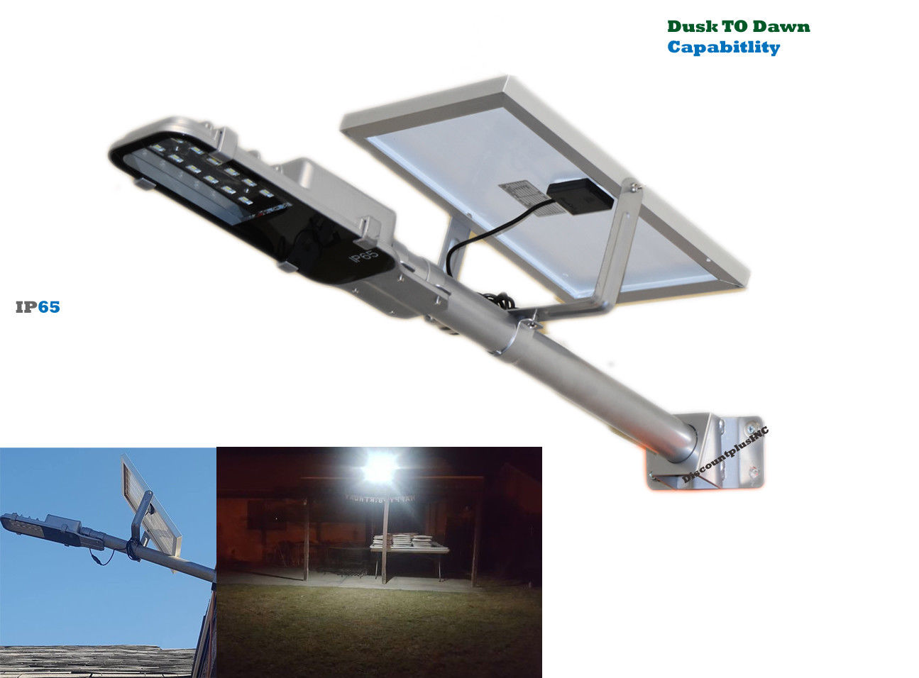 Dusk To Dawn OUTDOOR Solar Powered Energy Security LED Flood Light Lamp For Parking Garage Pathway RV Camping   (GO... by Garden Solar Lights