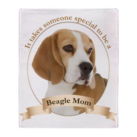 "CafePress - Beagle Mom - Soft Fleece Throw Blanket, 50""x60"" Stadium Blanket"