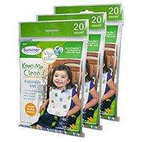 Keep Me Clean Disposable Baby Bibs, 60 Pack