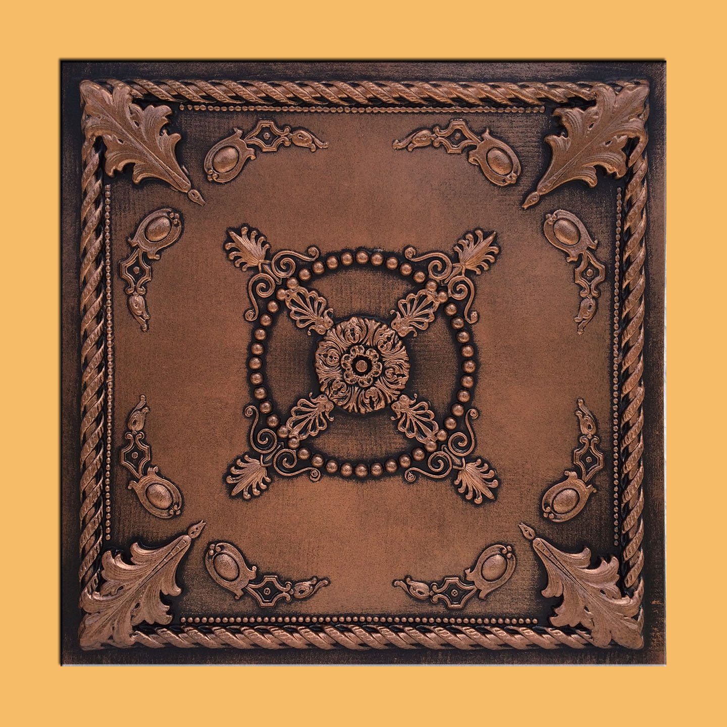 Jewel Antique Copper Black Pvc Ceiling Tiles For Drop In Grid System