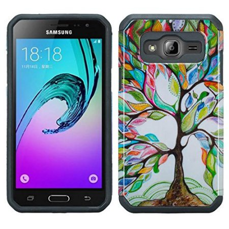 premium selection bdfd9 df706 Samsung Galaxy J3V, J3, Sky, Sol, Express Prime, Amp Prime Case - Wydan  Slim Hybrid Hard Shock Absorbant Rugged Phone Cover Artsy Tree
