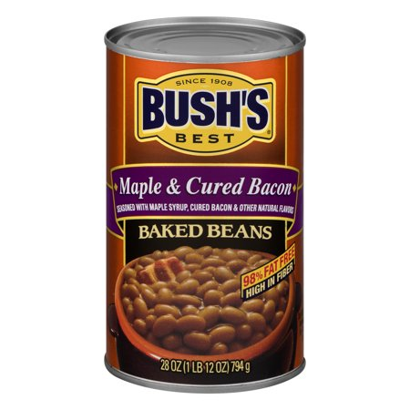 (6 Pack) Bush's Best Maple Cured Baked Beans, 28