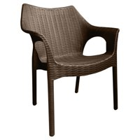 Strata Furniture Carina Weatherproof Patio Dining Chair - Set of 2