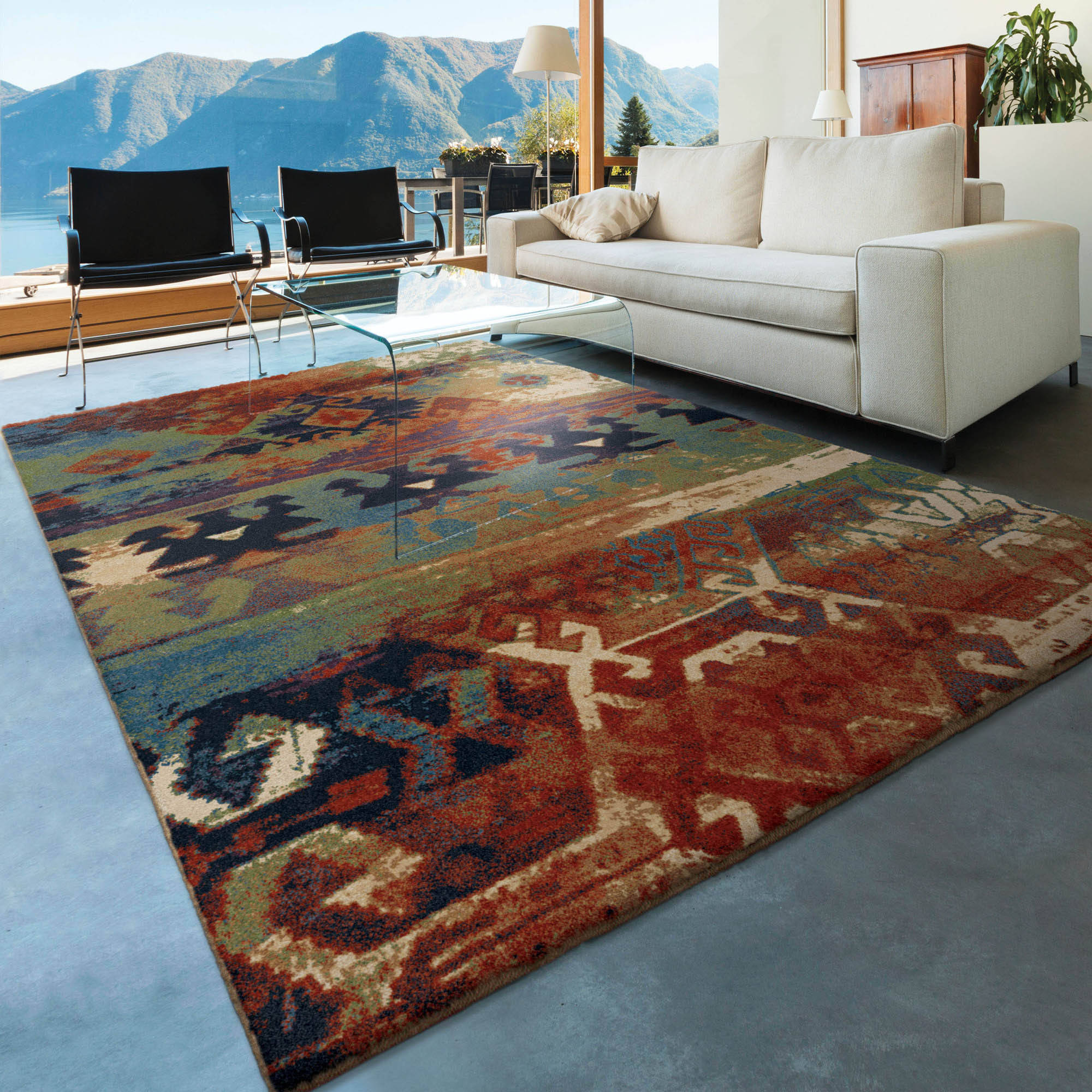 Orian Rugs Southwest Dreamcatcher Multi Colored Red Area