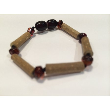 Polished Cherry 5.5 Inch Hazelwood Bracelet (For GERD, Colic, Eczema) Baby, Infant. Baltic Amber
