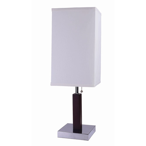 "ORE International 26"" Square Retro Steel Table Lamp"