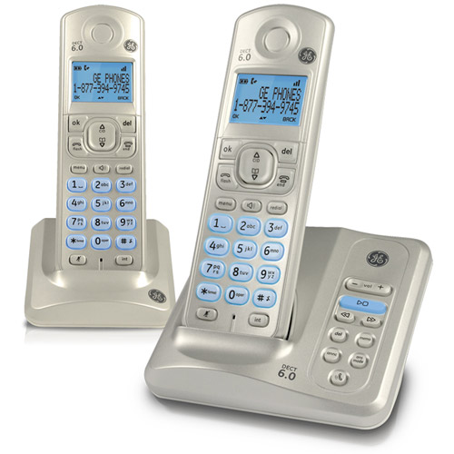 GE 28522AE2 DECT 6.0 Dual Handset Cordless Answering System with Caller ID