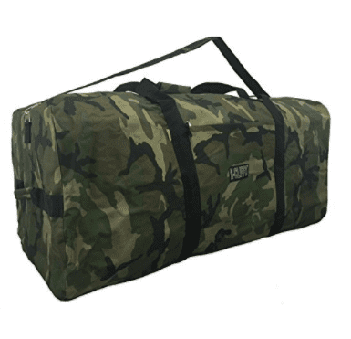 Heavy Duty Cargo Duffel Large Sport Gear Equipment Travel Bag Rooftop Rack Bag, Camo by K-Cliffs