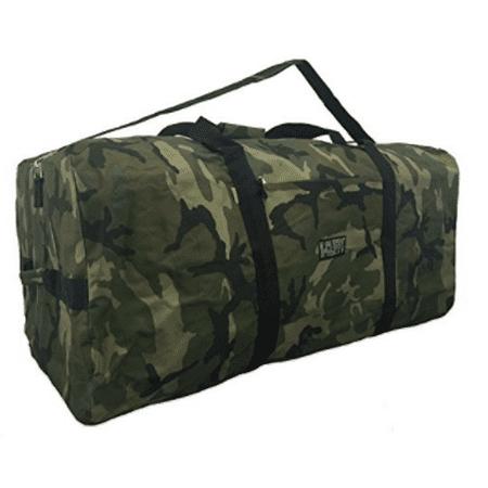 Heavy Duty Cargo Duffel Large Sport Gear Equipment Travel Bag Rooftop Rack Bag, Camo