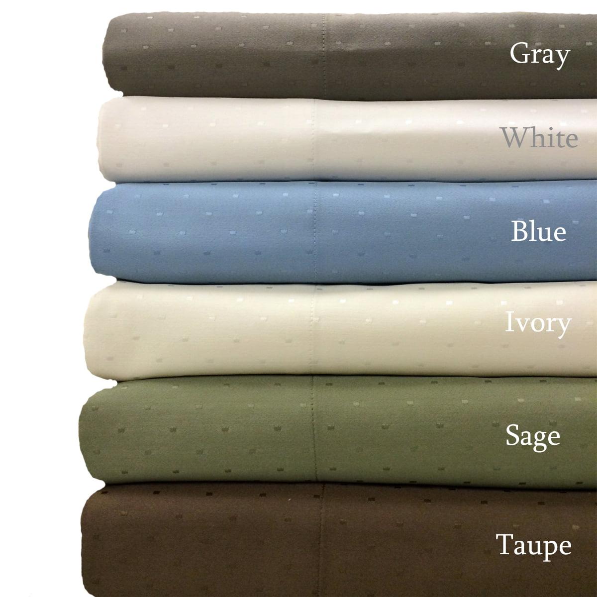Royal Tradition Woven Swiss Dots 600 Thread Count Sheet Set - California King - Gray