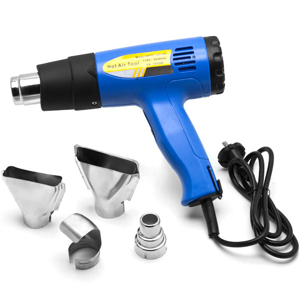 Biltek Heat Gun Kit w/ Accessories 1500 Watt Dual Temperature Shrink Wrapping 752-1022F