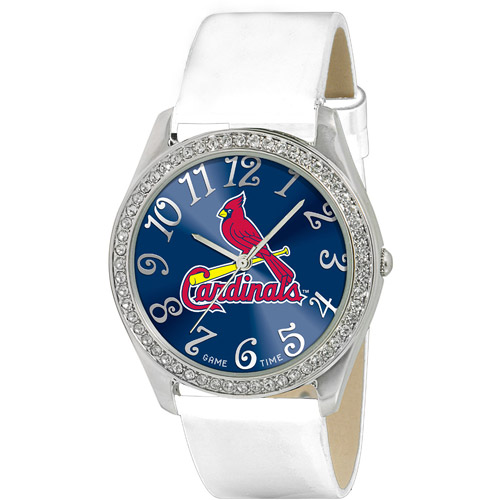 Game Time MLB Women's St. Louis Cardinals Glitz Watch, Silver