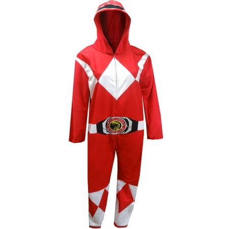 Red Power Ranger Pajamas (Mighty Morphin Power Rangers Red Ladies Onesie)