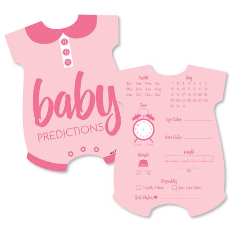 Baby Girl Baby Shower Ideas (Baby Girl - Baby Prediction Cards - Pink Baby Shower Game - Set of)