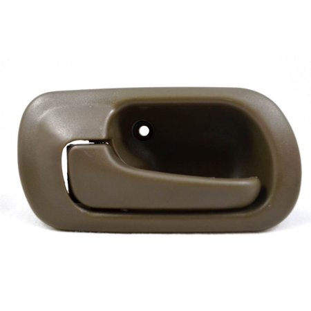 PT Auto Warehouse HO-2571B-RL - Inner Interior Inside Door Handle, Brown (Taupe) - without Lock Hole, Driver Side Rear Drivers Side Lock Box