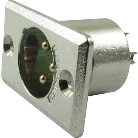 Xlr Panel Mount (XLR 3-Pin Male Rectangular Panel Mount Receptacle (Type D3M), By Switchcraft)