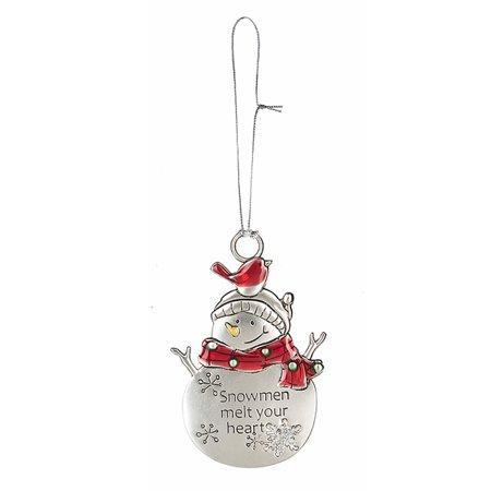 Snow Pal Snowman Ornament: Snowmen Melt Your Heart - By Ganz - Melted Snowman