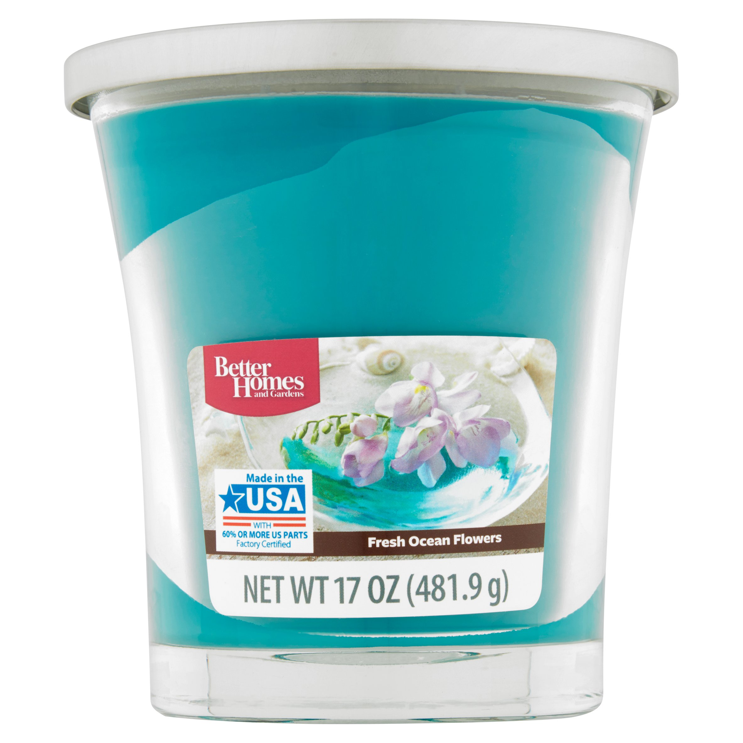 Click here to buy Better Homes and Gardens Fresh Ocean Flowers Candle, 17 oz by Wal-Mart Stores, Inc..