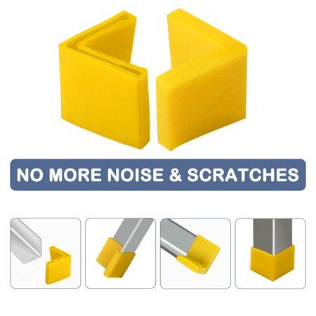 40mm x 40mm Angle Iron Foot Pad L Shaped PVC Leg Cap Desk Protector Yellow 14pcs - image 5 de 7