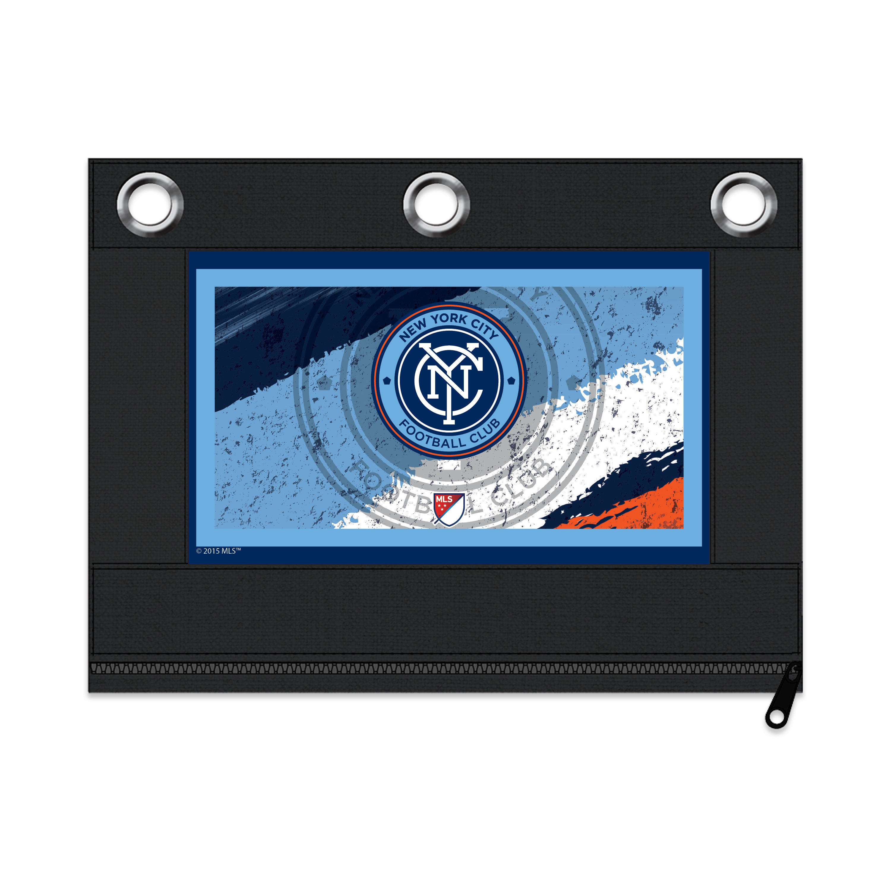 MLS New York City FC Zippered Pencil Pouch with Grommets