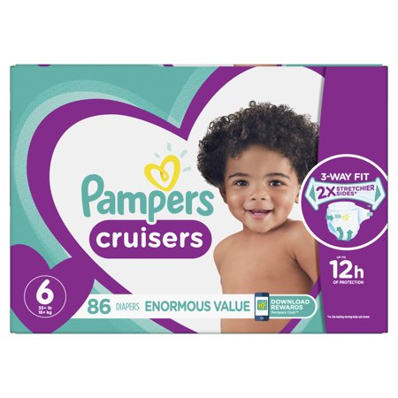 Pampers Cruisers Diapers Size 6 86 Count