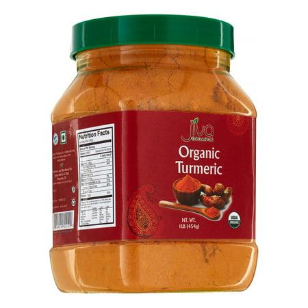 Jiva Organics Organic Turmeric Powder  16 Oz