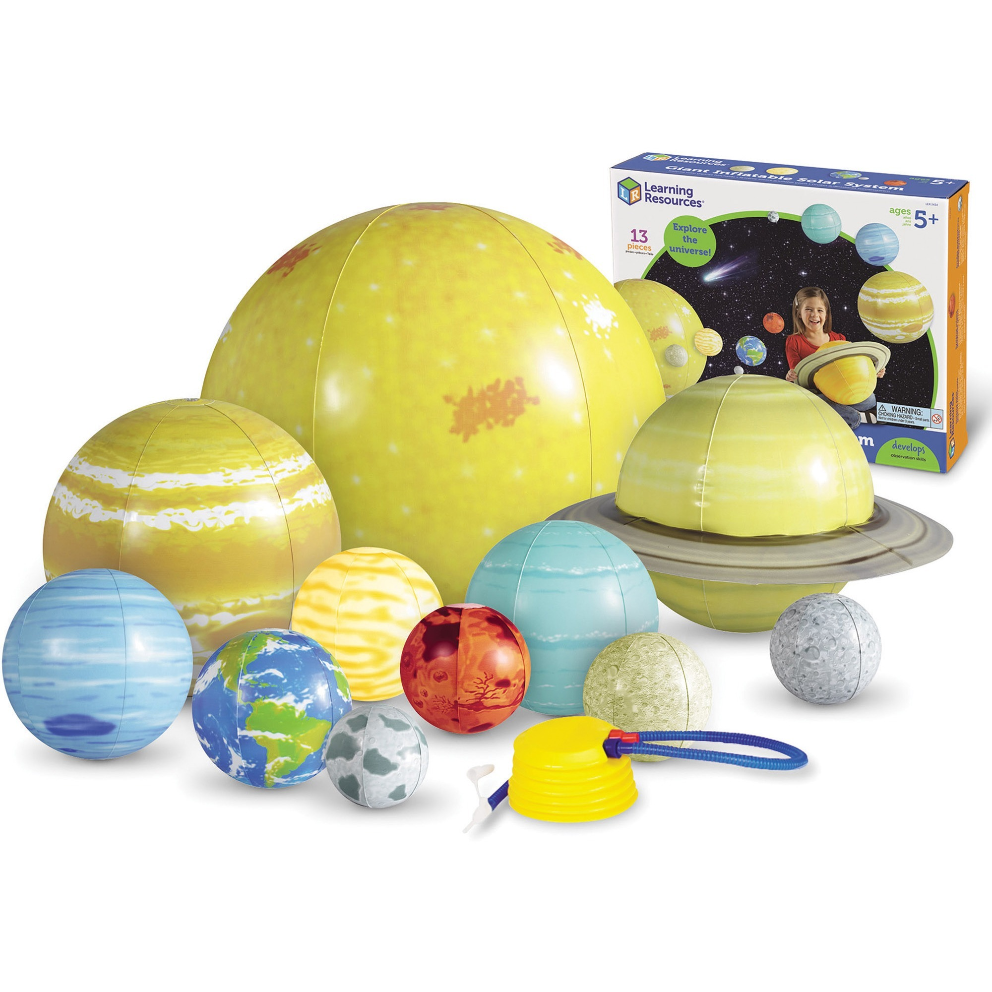 Learning Resources, LRNLER2434, Giant Inflatable Solar System Set, 12 / Kit