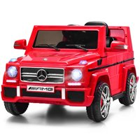 Costway Mercedes Benz G65 Licensed 12V Electric Kids Ride On Car RC Remote Control White Black Red