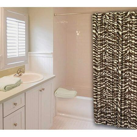 InStyle Wild Zebra Shower Curtain Cream And Brown