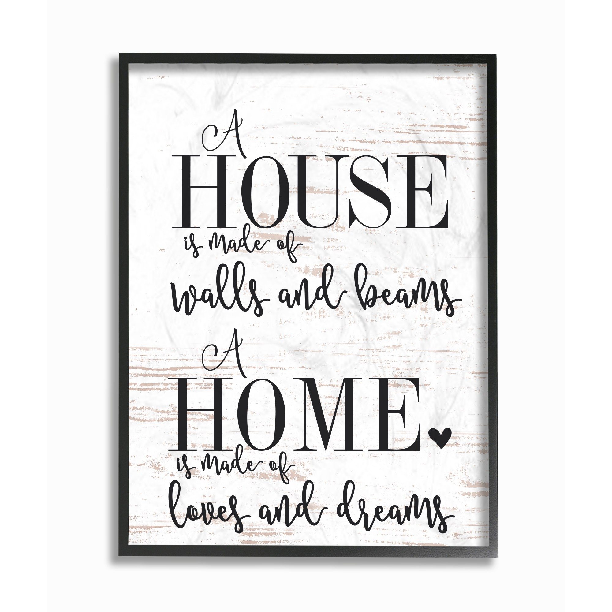 The Stupell Home Decor Collection Home Loves And Dreams Oversized Framed Giclee Texturized... by Stupell Industries